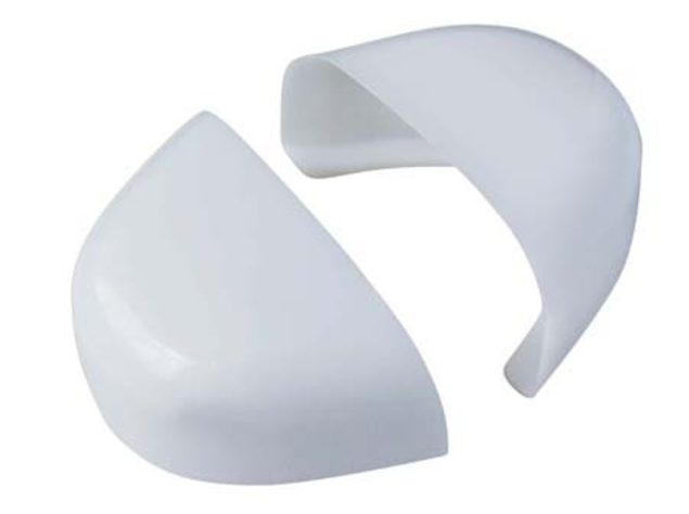 Safety footwear, toe cap materials