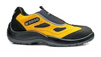 Laceless safety shoes