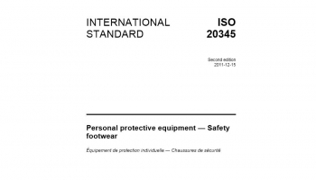 List of the most important norms standards for safety footwear